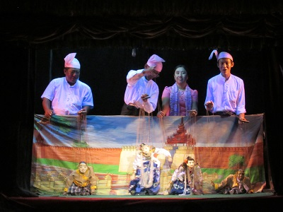 Puppeteers at the Mandalay Marionette Theater