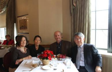 Lunch at the Faculty Club with Mark Bender, Chris Lee, Chan Park, and Etsuyo Yuasa