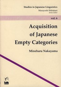 Acquisition of Japanese Empty Categories book cover