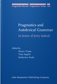 Pragmatics and Autolexical Grammar book cover; John Benjamins Publishing Company website